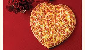 pizza heart shaped