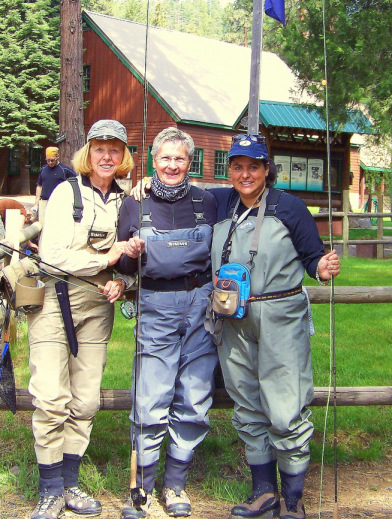 Joan, Darlene and I Camp Sherman 2010
